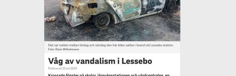 Vandalism i Lessebo