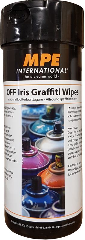 OFF Iris Graffiti Wipes