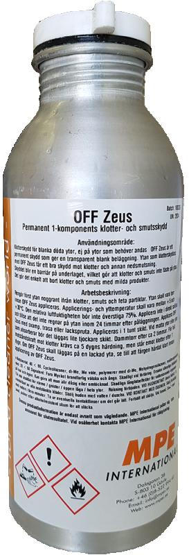 OFF Zeus, Permanent Klotterskydd