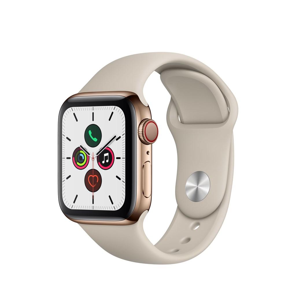 Apple Watch Series 5 - Rostfritt stålboett (2019)