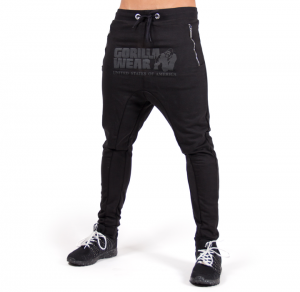 Alabama Drop Crotch Joggers, black