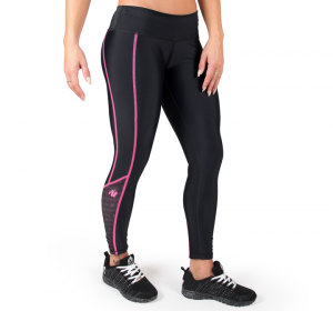Carlin Compression Tights, black/pink