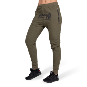 Celina Drop Crotch Joggers - Army Green