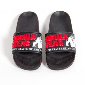 Classic Mens Slide Black/ Red