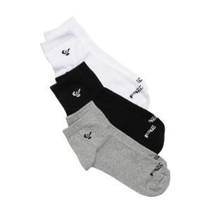 Socks 3-pack - Grey/Black/White