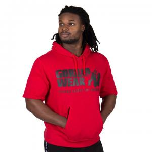 Boston Short Sleeve Hoodie Red
