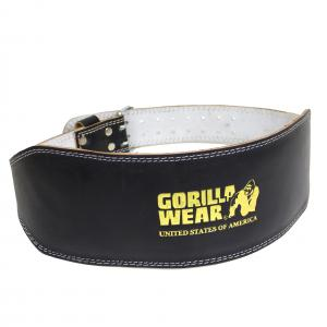 Full Leather Padded Belt black/gold