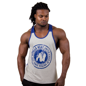 Roswell Tank Top Grey-Navy