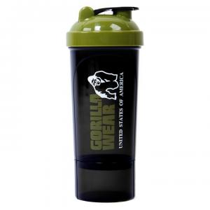 Shaker Compact 500 ml, black/army green