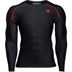 Hayden Compression Longsleeve, black/red