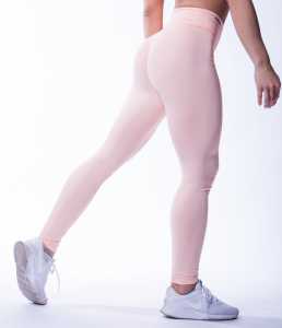 High Waist Scrunch Butt Tights, salmon