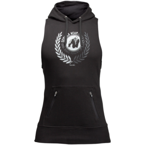 Manti Sleeveless Hoodie - Black