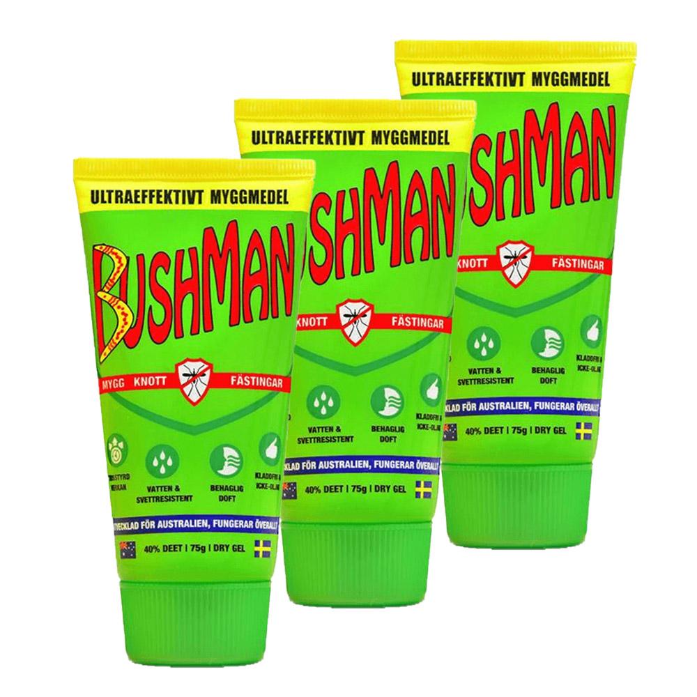 3-pack Bushman Insektsavstötande Dry Gel