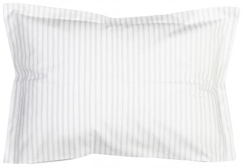 Pillow case | Light grey stripe | Sensitive