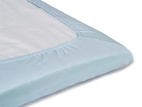 Fitted jersey sheet | Blue