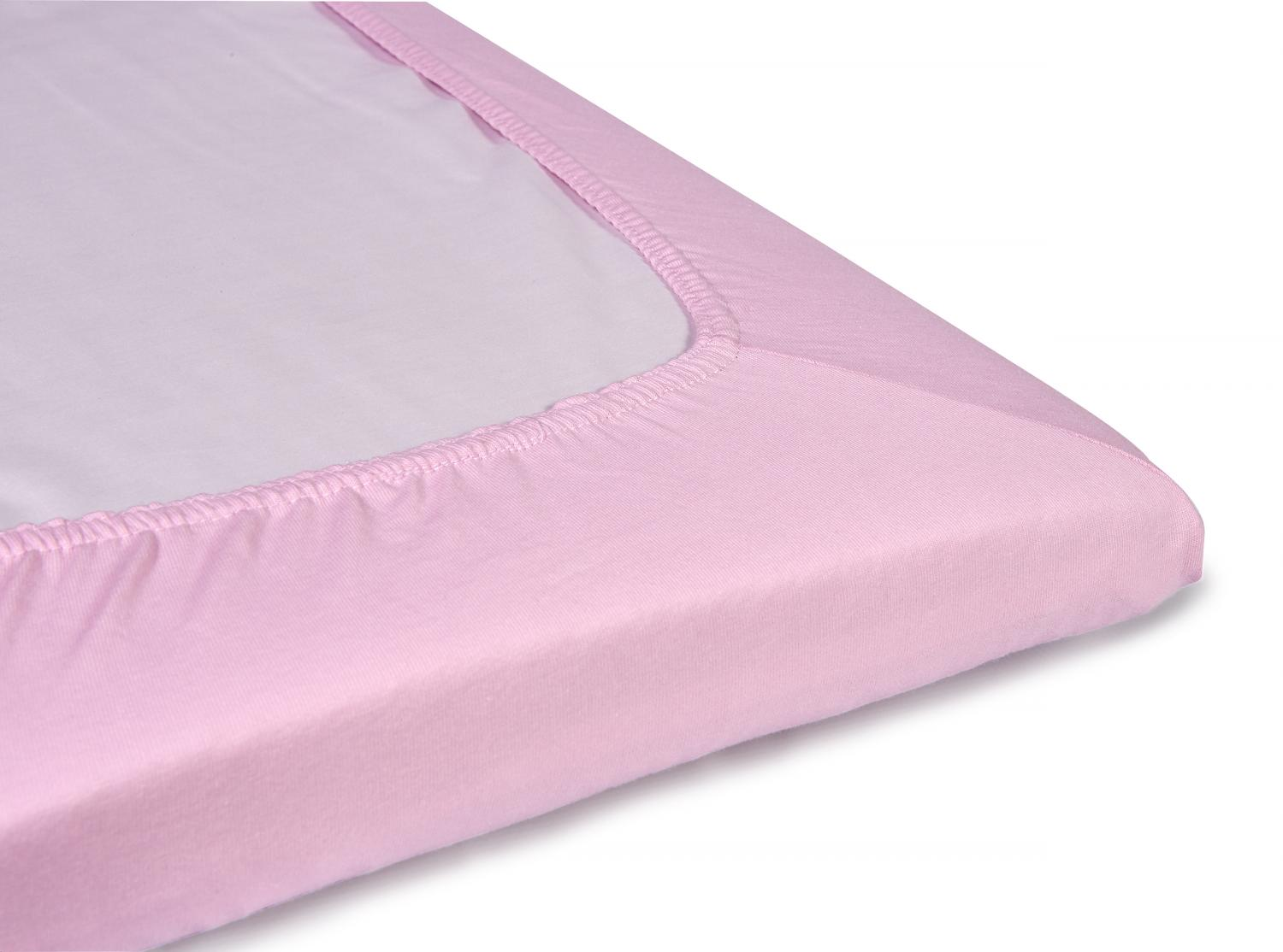 Fitted jersey sheet | Pink