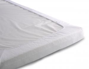 Fitted jersey sheet | White
