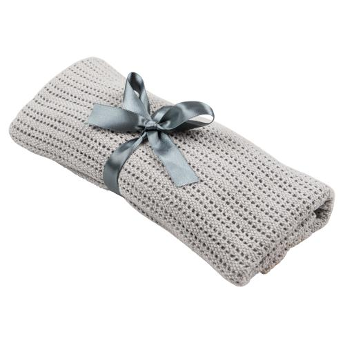 Cellular blanket grey | Cotton blanket Grey Line