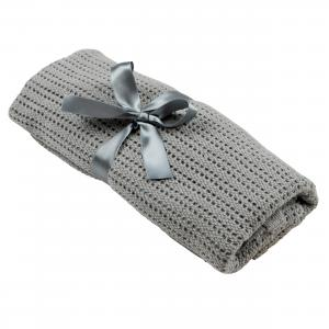 Cellular blanket | Graphite grey