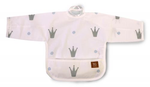Bib with arms | White | Royal