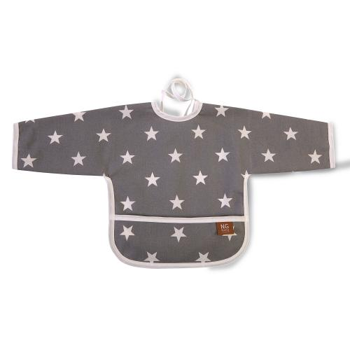Bib with arms | Grey star | New England
