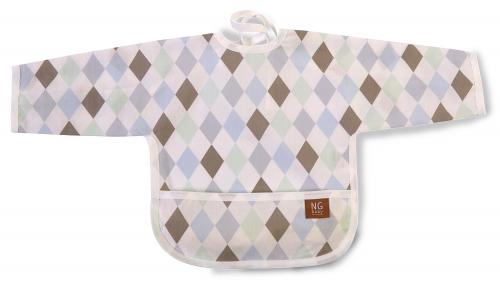 Bib with arms | Harlequin blue | Circus & Harlequin