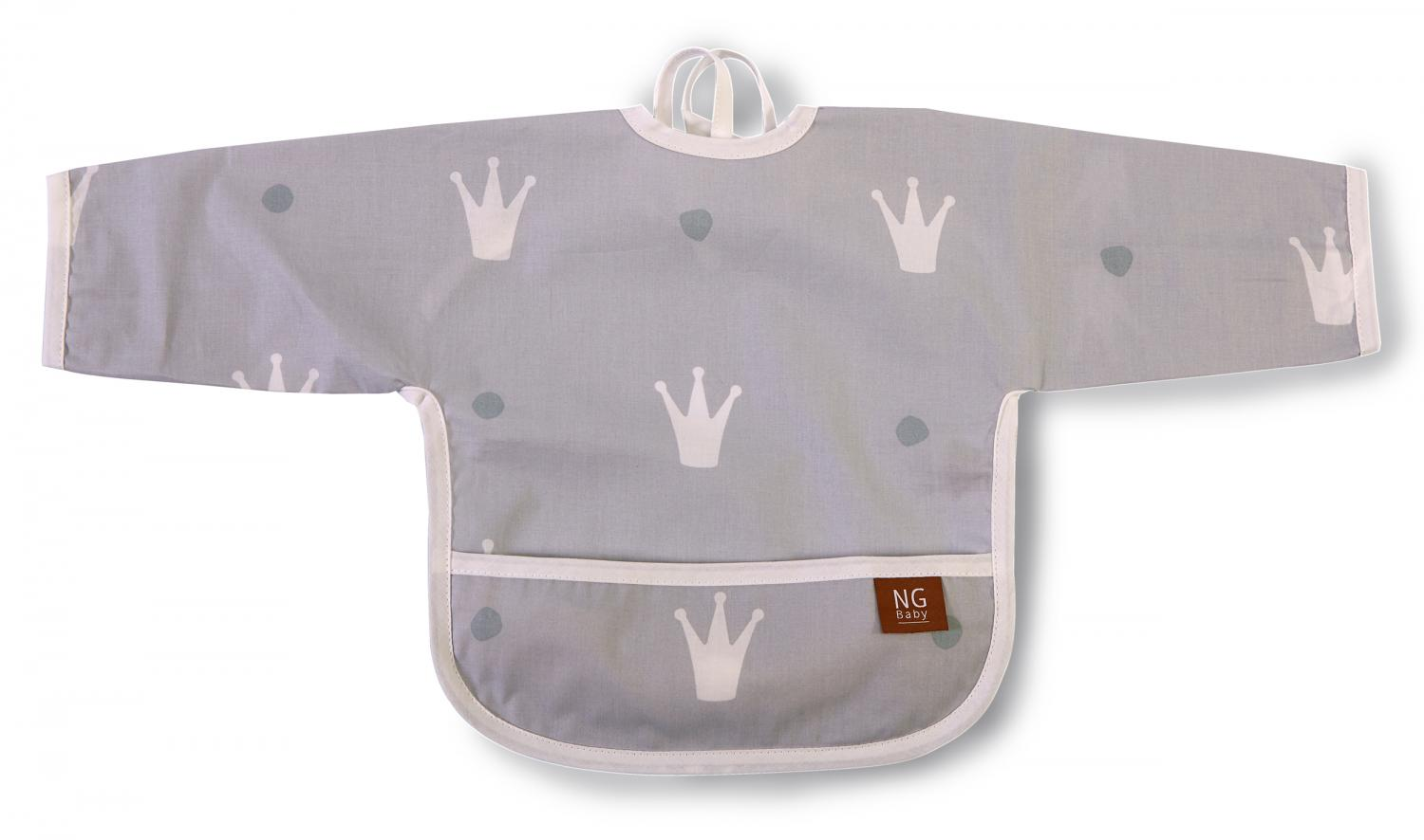 Bib with arms | Grey | Royal