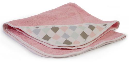 Bath cape | Light pink & Harlequin pink | Circus & Harlequin