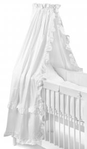 Crib drape | White ruffle | Basic