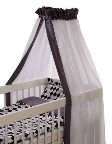 Crib drape | Graphite | Sensitive