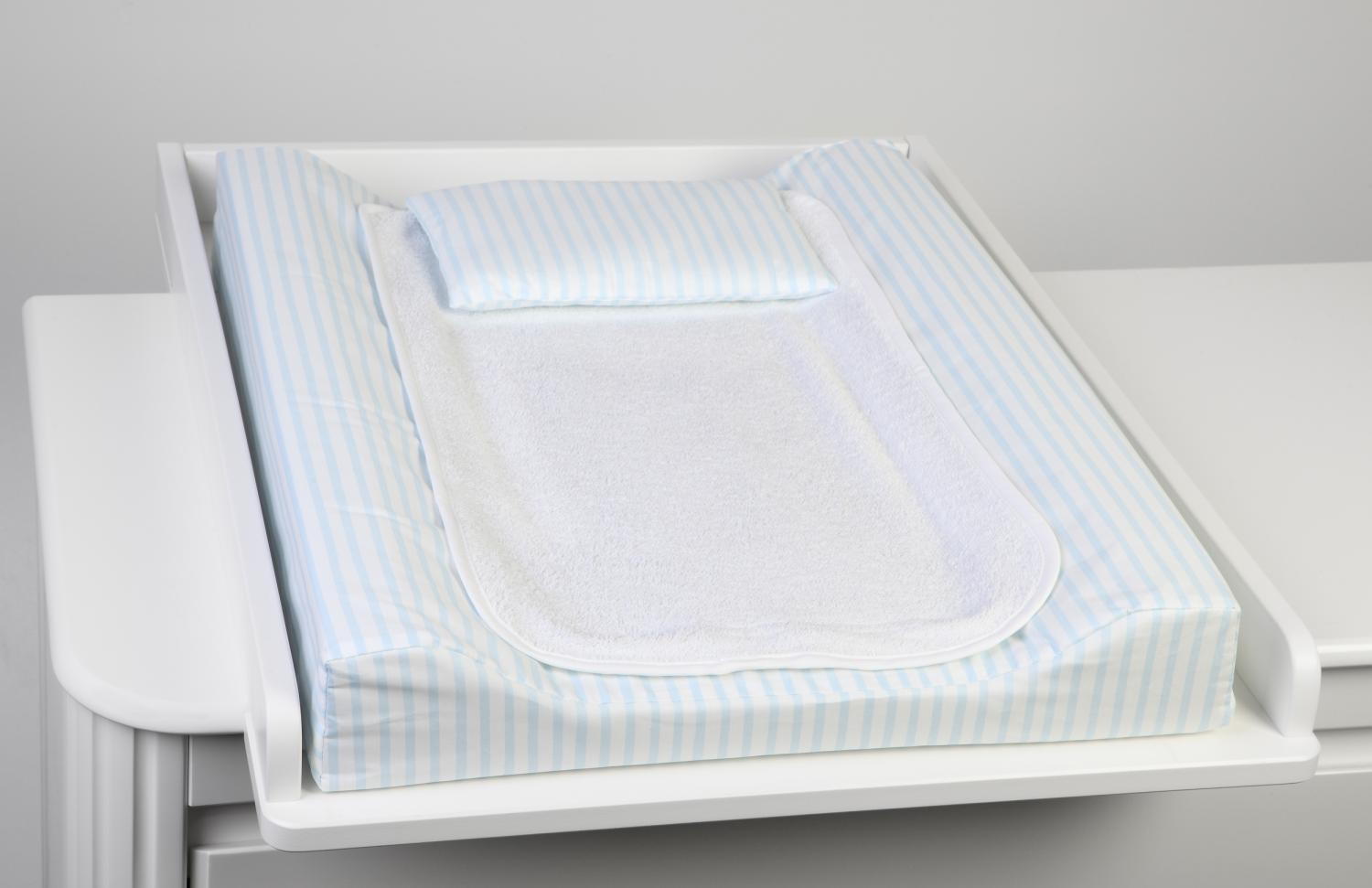 Changing pad de lux | Light blue stripe | Sensitive