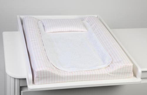 Changing pad de lux | Light pink stripe | Sensitive