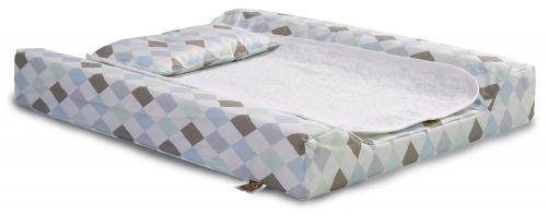 Changing pad de lux | Harlequin blue | Circus & Harlequin