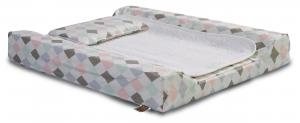 Changing pad de lux | Harlequin pink | Circus & Harlequin