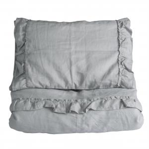 Duvet set ruffle | Light grey | Mood ruffles