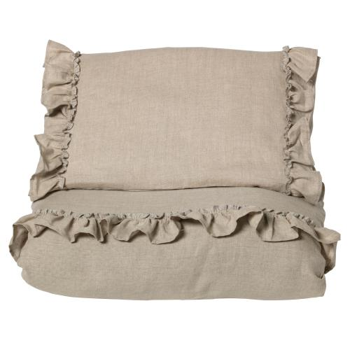 Duvet set ruffle | Natural | Mood ruffles