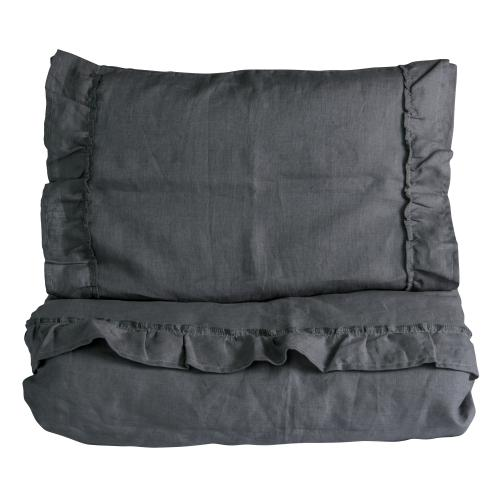 Duvet set ruffle | Graphite grey | Mood ruffles