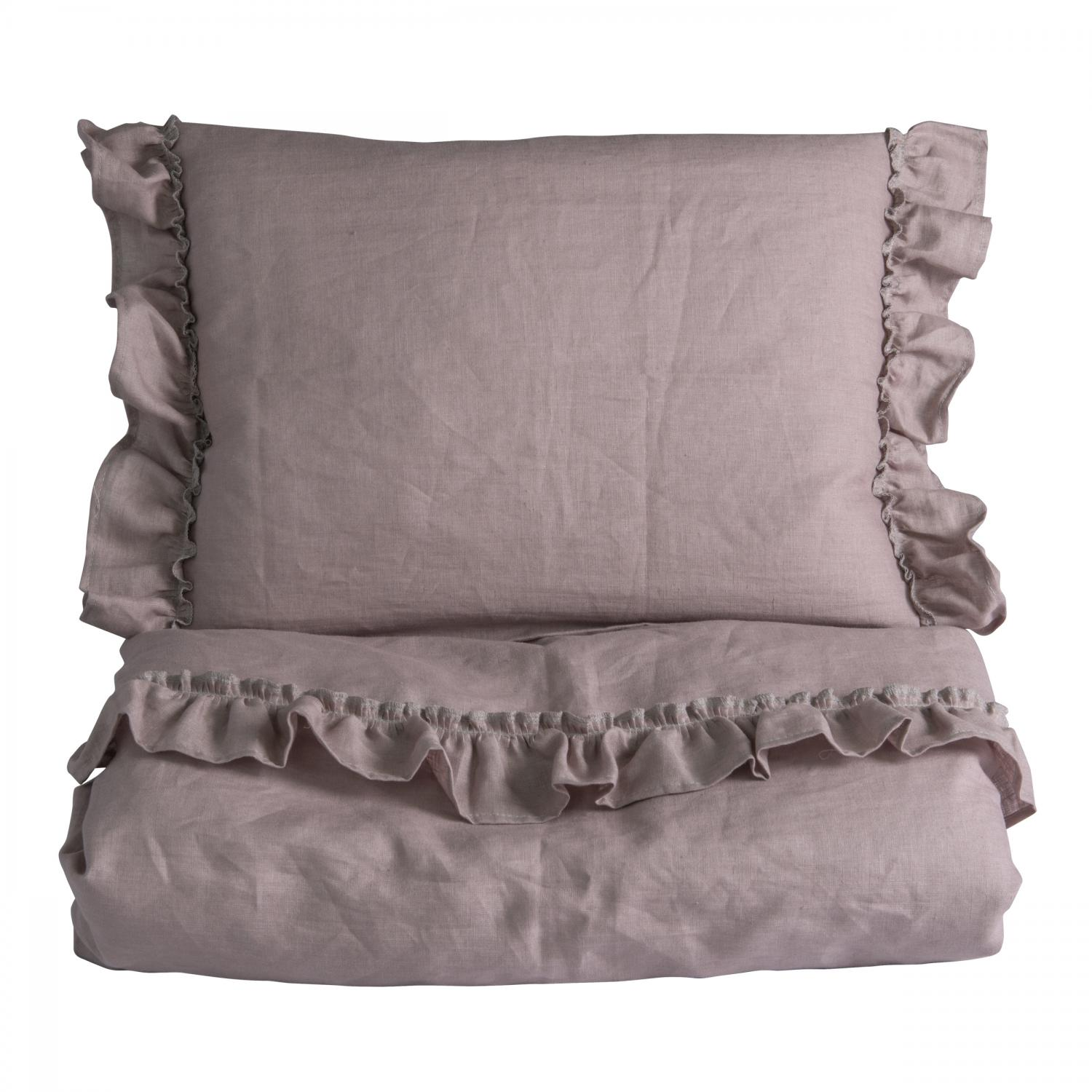 Duvet set ruffle | Dusty pink | Mood ruffles