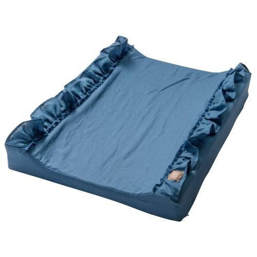 Changing pad standard ruffle | Blue | Mood ruffles