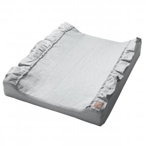 Changing pad standard ruffle | Light grey | Mood ruffles