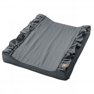 Changing pad standard ruffle | Graphite grey | Mood ruffles