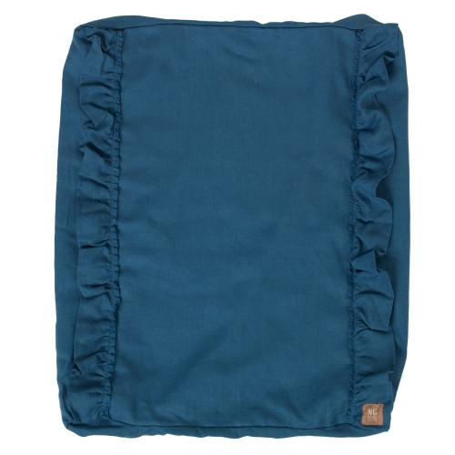 Changing pad ruffle cover | Blue | Mood ruffles