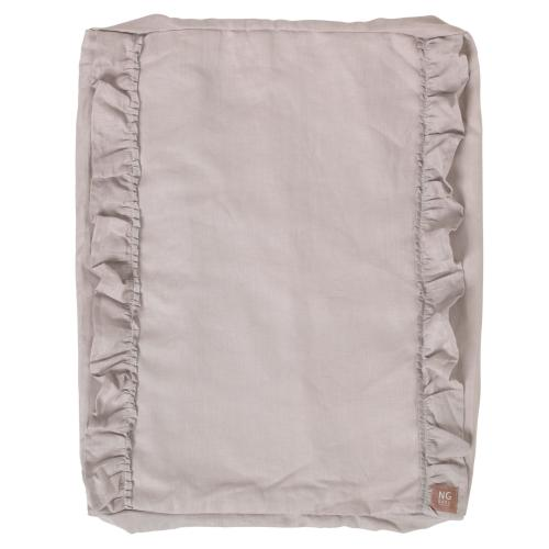 Changing pad ruffle cover | Light grey | Mood ruffles