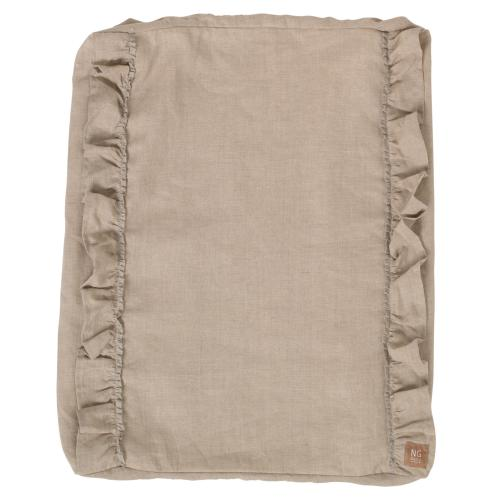 Changing pad ruffle cover | Natural | Mood ruffles