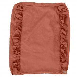 Changing pad ruffle cover | Terracotta | Mood ruffles
