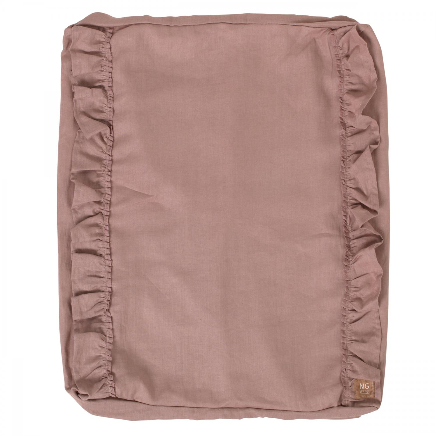 Changing pad ruffle cover | Dusty pink | Mood ruffles
