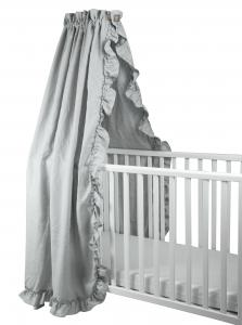 Crib drape ruffle | Light grey | Mood ruffles