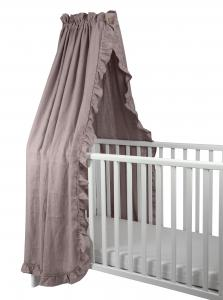 Crib drape ruffle | Dusty pink | Mood ruffles