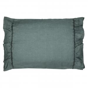 Pillow case ruffle | Petrol green | Mood ruffles