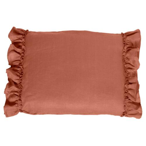 Pillow case ruffle | Terracotta | Mood ruffles